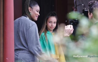 Vancouver, CANADA  - First look at young actress Kylie Cantrall, who plays the lead role for the new Disney series 'Gabby Duran & The Unsittables'.  The series, directed by Nzingha Stewart, is set to premiere in 2019.  Pictured: Kylie Cantrall, Nzingha Stewart  HP 29 AUGUST 2018   BYLINE MUST READ: JKING / HollywoodPipeline  Hollywood Pipeline contact@hollywoodpipeline.com